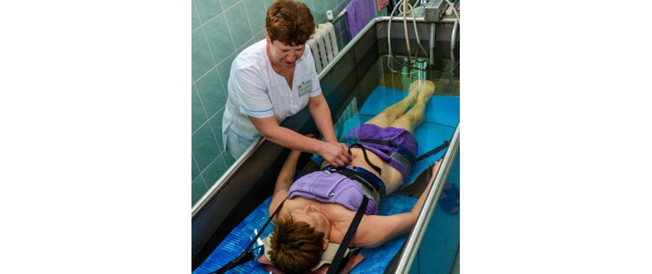Подводное вытяжение позвоночника в евпатории